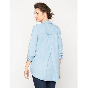 Splendid Blue Denim Chambray Button Down Shirt
